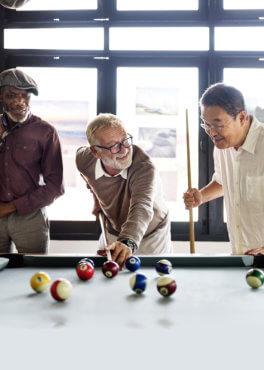 grandpas playing billiard