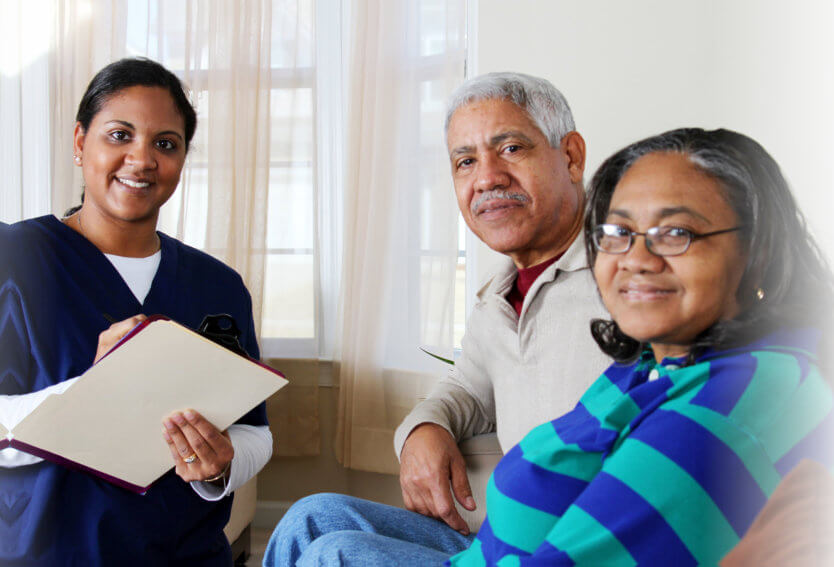 caregiver and her patients